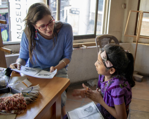 Camila, Design, helped Dolores with literacy
