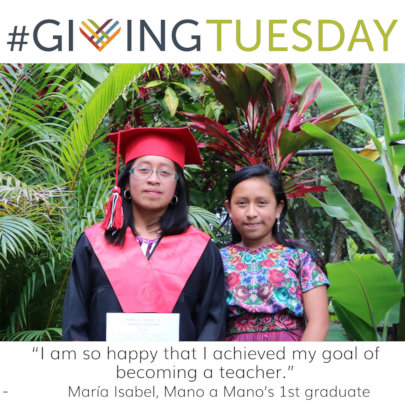 Maria Isabel with her sister, our student Lourdes