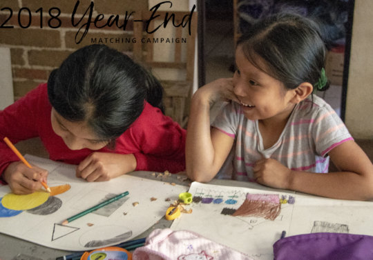 Sisters Hadasa and Damariz Pablo at our Art Class