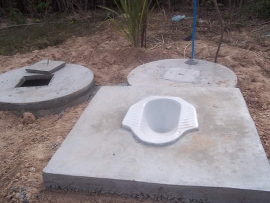 Basic latrine construction Trailblazer provides