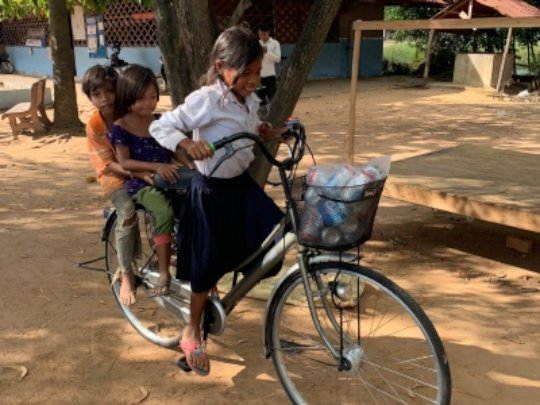 Distributing Bikes to Students in Rural Cambodia