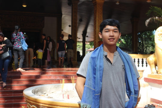 Bunleng, ISF's University Student in Taiwan