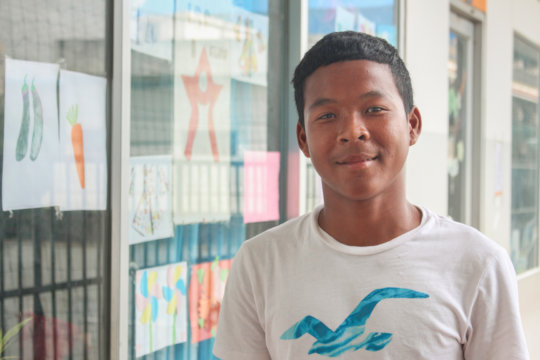 Vuthi, ISF state school student