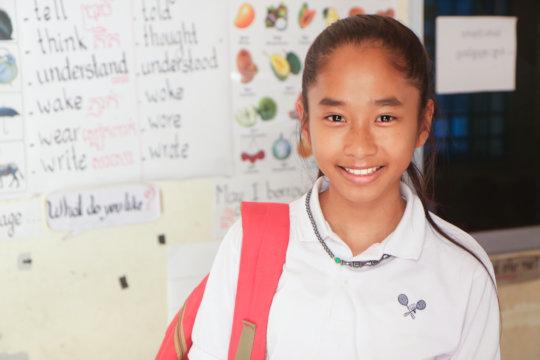 Sokha*, student studying English at ISF