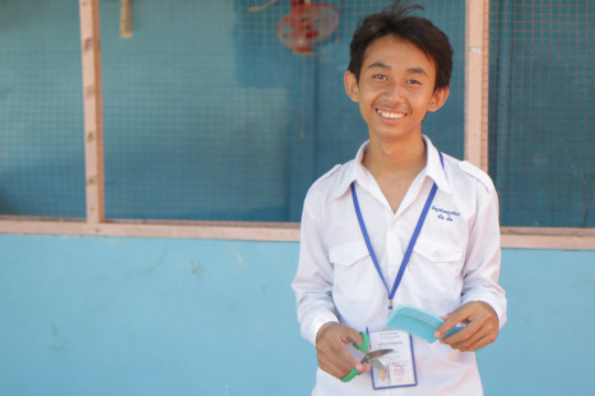 Vasson*, state school student and barber trainee