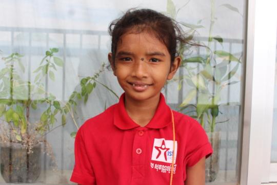 Reaksa, catch-up student in grade 1