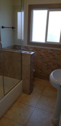 Upgraded bathroom