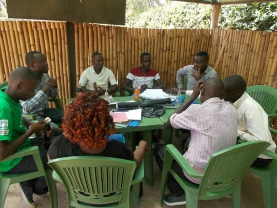 During a group work facilitation