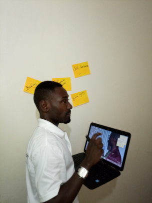 Our Executive Director during the training