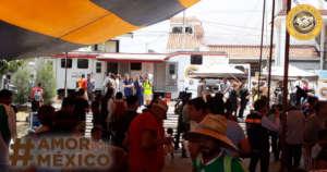 Medical attention to migrants caravan