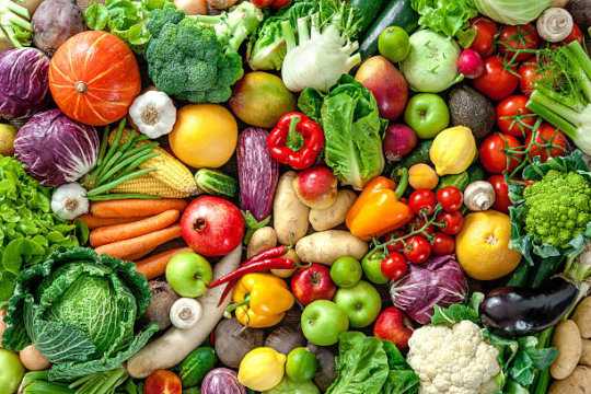 Fresh colorful produce
