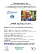 Flyer - Innovative Programs in Haiti (PDF)