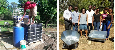 UNDH-Hinche students w biodigesters & solar ovens