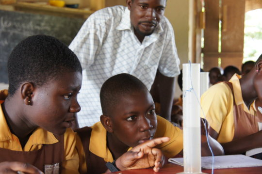 Support science clubs for 600 girls in Ghana
