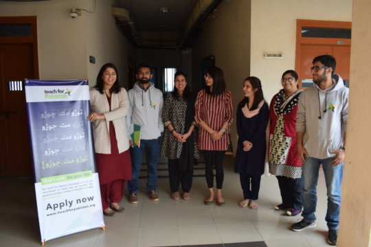 Recruitment team with campaign ambassadors-NUST