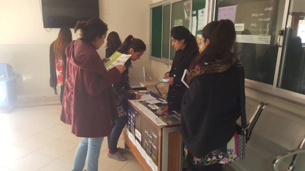 Bahria- campus ambassadors engaging students
