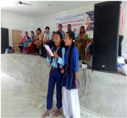 Participanting in song competition