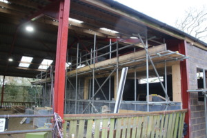 New viewing gallery and hay barn front