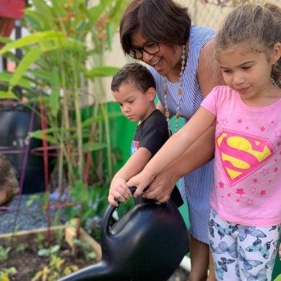Urban garden reopening ceremony