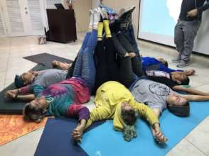 Yoga session for students