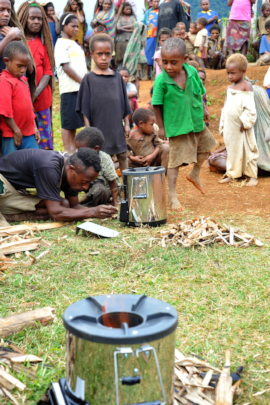 First public demonstration of clean rocket stove