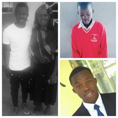 Douglas with Kwamboka, in primary school, and now