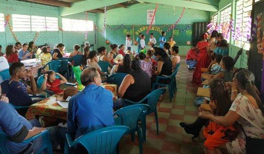 Mesa Comunitaria Event in Quebrada Grande Aug 2018