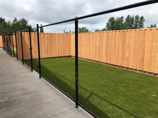 One of the many outdoor Dog Yards almost complete