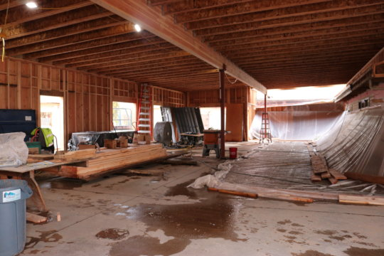 Interior of the central building just taking shape