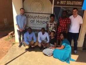 Evaluation team plus Mountains of Hope staff