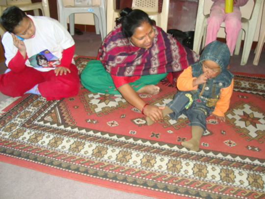 Children with Down syndrome in Nepal