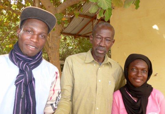 Babacar & Adja with CIPA Director Mr Diop