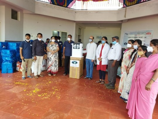 Anniversary distribution of Oxygen Concentrator