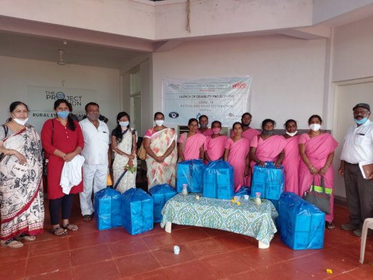 Distribution of medical kits to Asha workers