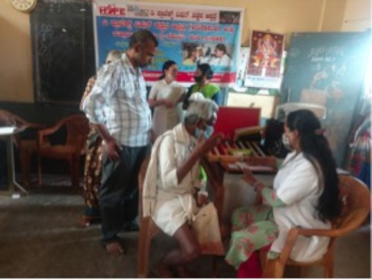 Eye Screening Camp at Andrahalli