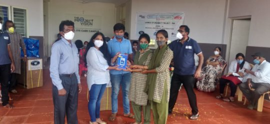 Distribution of Tabs to students