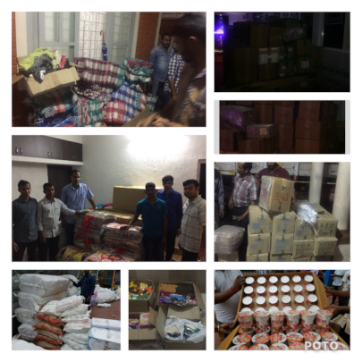 Contribution for flood relief