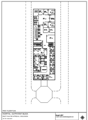 Hospital first floor plan