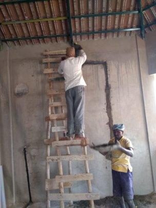 Men at work....