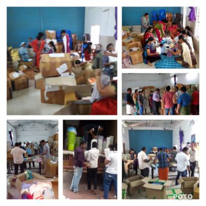 Selfless service by volunteers.....