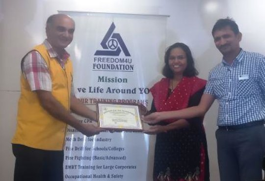 Appreciation Certificate-Fire Drill participation