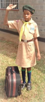 One of our little Girl Scouts!