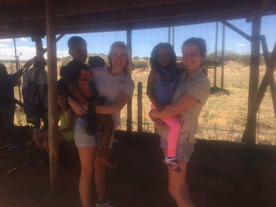 Our tour guides had to carry some kids around!