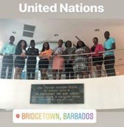 V.I. students visited Barbados Change Institute