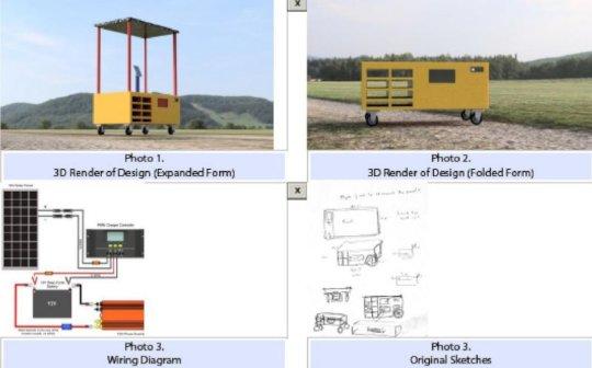 Solar Charging Station Prototype for Neighborhoods