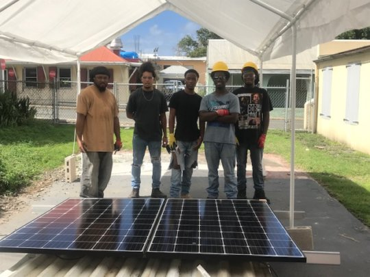 Our solar students are just weeks from graduation!