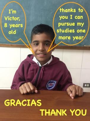 Victor: 3rd grade student