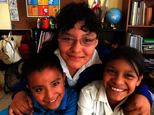 Angelica with best friends Miguelito and Maricruz