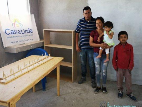 Max delivers furniture to Casita Linda family