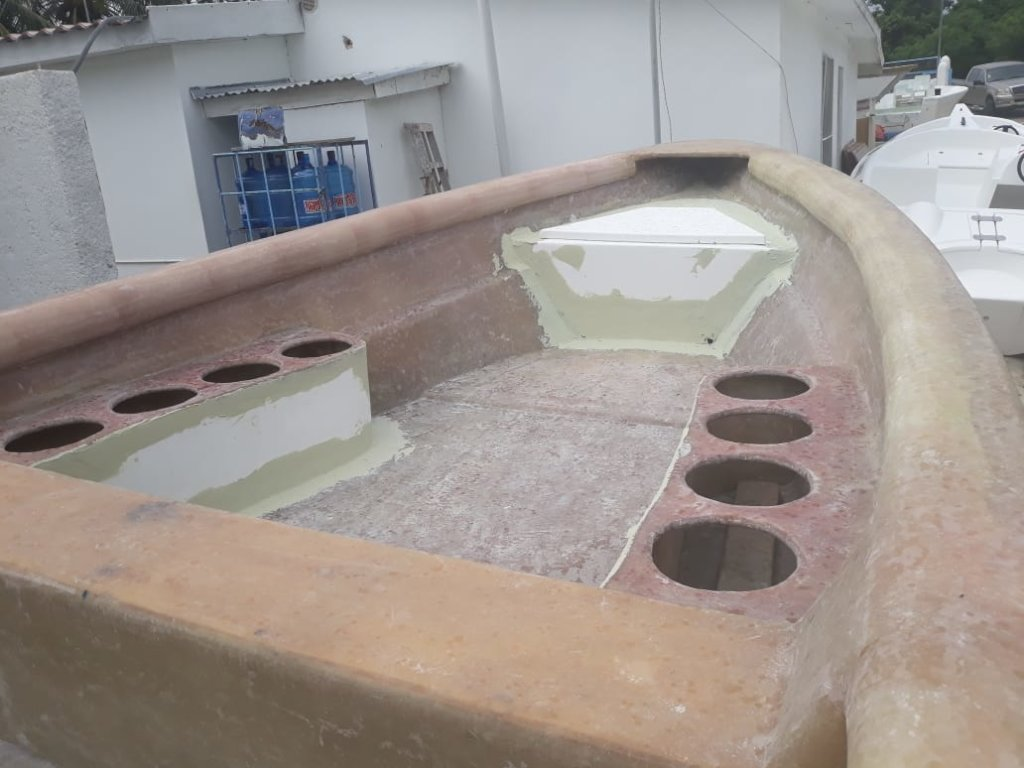 Boat for Coral Gardeners transportation